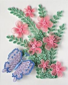 Paper Craft Central:- Quilling - Butterfly Flower Pattern