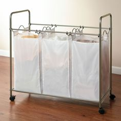 3-Bin Laundry Sorter   Laundry Organizers   Brylanehome