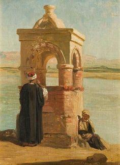 """""""Oriental Scene, Esna, Egypt"""" by Charles Landelle (1876)"""
