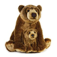 Urs grizzly cu pui 31 cm-Jucarie din plus National Geographic - eMAG. National Geographic, Parda, Interesting Animals, Plush Animals, Stuffed Animals, Stuffed Toy, Baby Animals, Animal Facts, Cool Pets