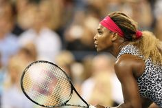 Serena Williams during her first-round match against Taylor Townsend on Arthur Ashe Stadium. - Corey Silvia/usopen.org