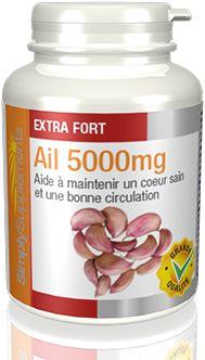 Comprimés d'Ail extra forts de Simply Supplements. Support avancé pour la santé cardiaque, la circulation et le système immunitaire. Qualité assurée. Livraison gratuite.