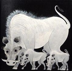 Warthogs by Zuberi Tanzania, Kenya, Moose Art, Lion Sculpture, African, Statue, Pocket, Artist, Animals