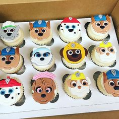 Paw Patrol Cupcakes #pawpatrol #pups #cupcakes #buttercream #edibleart | by Charlie Cakes