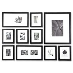 Black 1 inch > Perfect Picturewall with FREE U.S. Shipping 1\' Black - Picturewall®***Made to Order in America******NOW WITH NON-GLARE LENSWhat you get1. 10 solid wood BLACK 1\' frames with 10 acid free \'Off White\' Mats (