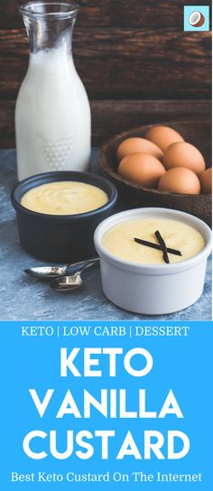 Keto Custard must be one of the most logical ketogenic recipes to create, but also one of the hardest to perfect. Getting the consistency right for custard requires some determination, many taste testers and a whole lot of delicious cream to make the best keto custard on the internet! via @fatforweightlos