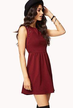 Studded A-Line Dress | FOREVER 21 - 2055878140