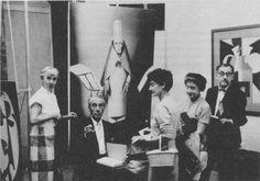 Hannah Höch (left) with Hans Richter, Juliet Man-Ray, Frida Richter, and Man Ray, 1958 Photomontage, Dadaism Art, Max Ernst, Piet Mondrian, Artist Life, Artist At Work, Hannah Hoch Collage, Hannah Höch, Frances Movie