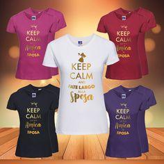 MAGLIETTE ADDIO AL NUBILATO KEEP CALM PERSONALIZZATE NOME SPOSA AMICHE DAMIGELLA   Abbigliamento e accessori, Donna: abbigliamento, T-shirt   eBay!