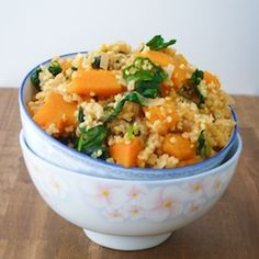 Millet with Butternut Squash and Kale HealthyAperture.com