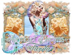 "I have made a animated tag with the beautiful template made by Millie: ""Mermaid Dreams""(Template I found it because of a template ch. Paint Shop, The Dreamers, Paradise, Digital Art, Mermaid, Template, Princess Zelda, Animation, Dreams"