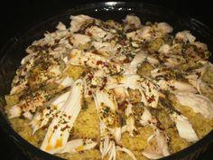 Delicious Turkish original bulgur pilaf with chicken