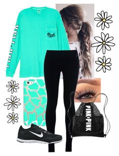 """""""JOKE OF THE DAY! Read D."""" by queen-hstyles ❤ liked on Polyvore featuring Casetify, Victoria's Secret and NIKE"""