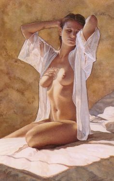 Steve Hanks (1949-2015) - great American figurative watercolor artist.