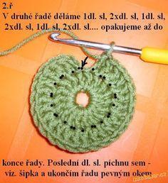 Háčkovaná čepička - super návod Crochet 101, Diy Crafts Crochet, Crochet Fabric, Crochet Chart, Free Crochet, Different Crochet Stitches, Crochet Stitches Free, Crochet Symbols, Ravelry Free Patterns