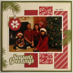 Christmas Scrapbook Page Layout
