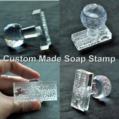 Acrylic Natural Word Handmade Clear Soap Stamping Stamp Seal Mold Craft DIY  up