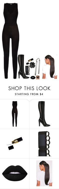N/A # 1790 by wendy00 on Polyvore featuring La Perla, Yves Saint Laurent, Black and Lime Crime