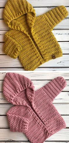Crochet Baby Hoodie - knitting is as easy as 3 knitting is in progress . - Crochet Baby Hoodie – knitting is as easy as 3 knitting comes down to three essential skill - Crochet Baby Sweaters, Crochet Baby Cardigan, Crochet Baby Clothes, Crochet Hoodie, Crochet Baby Stuff, Booties Crochet, Crochet Baby Outfits, Crochet Hats, Free Crochet