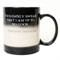 "Harry Potter ""I Solemnly Swear...Mischief Managed"" Transforming Mug"