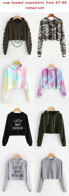 hooded crop sweatshirts - rowme.com
