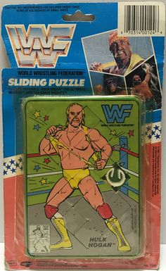 1991 Titan Sports WWF Wrestling Sliding Puzzle Hulk Hogan This item is NOT in Mint Condition and is in no way being described as Mint or even Near Mint. Our toys have not always lead the perfect life, Weird Toys, Wwe Toys, Wrestling Superstars, Hulk Hogan, Professional Wrestling, Classic Toys, Vintage Toys, Childhood Memories, 1990s