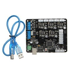MKS Base V1.4 3D Printer Controller Board Replace Ramps 1.4 + Mega 2560 + A4988 For Arduino