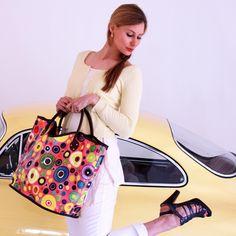 Bubble Gum Trug Bag from Anna Benham