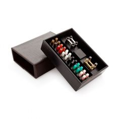 Leather Weekly Cufflinks Case by Cedes Milano on GIFTLAB
