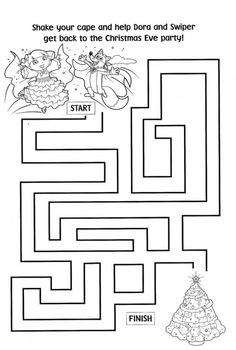 Free Printable Dora Christmas Coloring Pages Picture 52 550x816 Picture