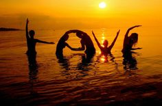 <3 LOVE and sunset