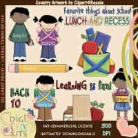 Back to School (C4R) Country Clip Art