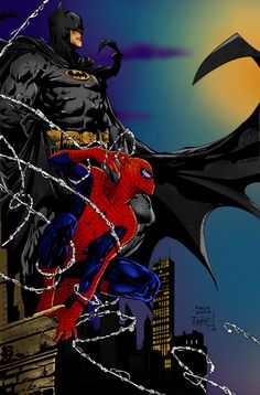 #Spiderman #Fan #Art. (Spiderman and Batman) By: XxSilverTheHedgehog. (THE * 5 * STÅR * ÅWARD * OF: * AW YEAH, IT'S MAJOR ÅWESOMENESS!!!™)[THANK Ü 4 PINNING<·><]<©>ÅÅÅ+(OB4E)