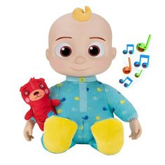 CoComelon Roto Plush Bedtime JJ Doll : Target Plush Dolls, Doll Toys, Baby Dolls, Pokemon Plush, Pikachu, Bedtime Songs, Lullaby Songs, Action Toys, Dolls For Sale