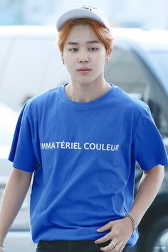 BTS Jimin // he looks so freaking good in blue ughhh