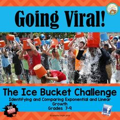 Students use a relevant scenario to identify and compare linear and exponential growth.  A variety of skills including identifying patterns, organizing and graphing data, and analyzing data set in the scene of the Ice Bucket Challenge engage students.