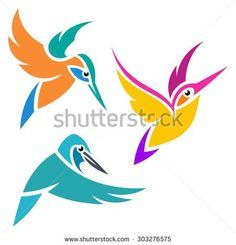 Výsledek obrázku pro kingfisher vector