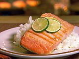 Grilled Salmon with Key Lime Butter Recipe : Paula Deen : Food Network Grilled Salmon Recipes, Fish Recipes, Seafood Recipes, Seafood Meals, Food Network Recipes, Cooking Recipes, Healthy Recipes, Healthy Food, Healthy Dinners