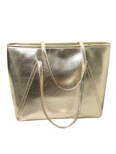 Shop Gold Shoulder Bag from choies.com .Free shipping Worldwide.$26.99