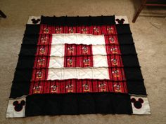 Mickey Mouse Baby Rag Quilt