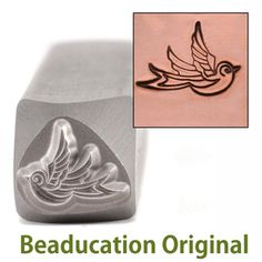 Beaducation: Swallow Right Facing Design Stamp- Beaducation Original [DS335], $13.00