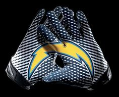 "Chargers new ""logo lock-up"" gloves."