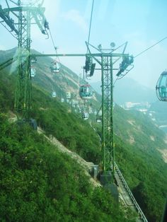 The cable cars in Ocean Park - Hong Kong, China