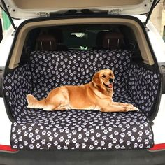 Dog Car Seat Cover Footprint Thick Waterproof Bite Resistant Rear Back Trunk Hammock Cushion Protector Seat Cover Pad Mat Waterproof Car Seat Covers, Pet Car Seat Covers, Dog Car Seats, Car Seat Protector, Dog Pads, Dog Area, Pet Gear, Dog Travel, Travel Bags