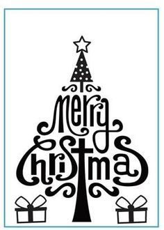 Embossing Folders - Merry Christmas