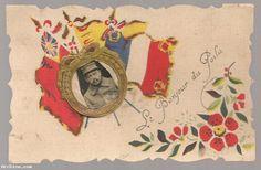 Carte postale CPA - le bonjour du poilu - ajoutis ruban - Guylo Paris