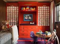 Nursery Inspired by The Grand Budapest Hotel, Steve and Filip Design, Photograph by Wittefini