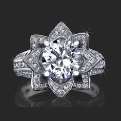 Top View: 1.78 ctw. 14K Gold Diamond Engagement Ring. item# stg434. $3887.78 USD. Designer/Website: secretdiamond.com