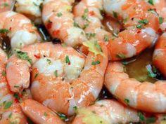 Crevettes juste marinées...
