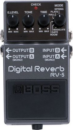 Boss RV-5 Digital Reverb Guitar Effects Pedal